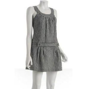 Cutest Gingham belted skater dress with open back